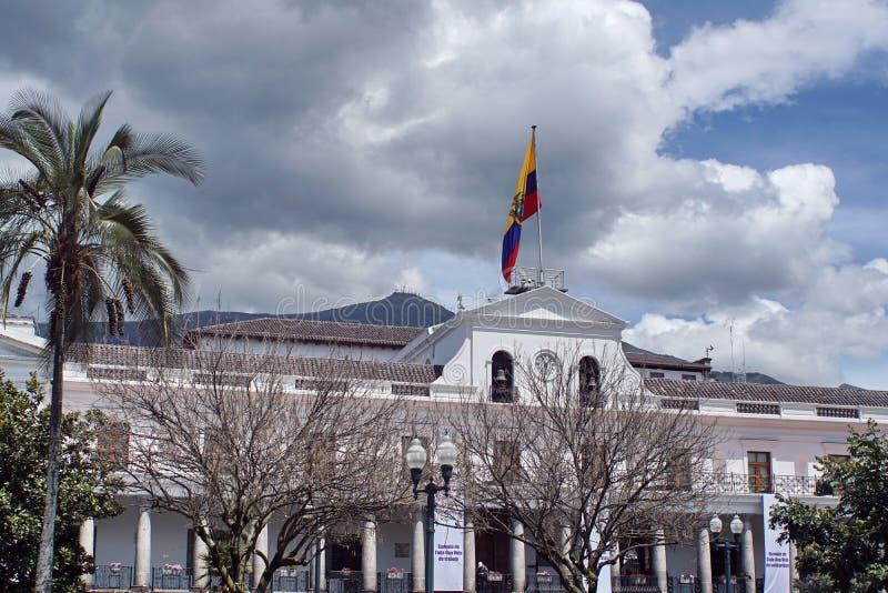 Palacio presidencial en Quito imagen de archivo