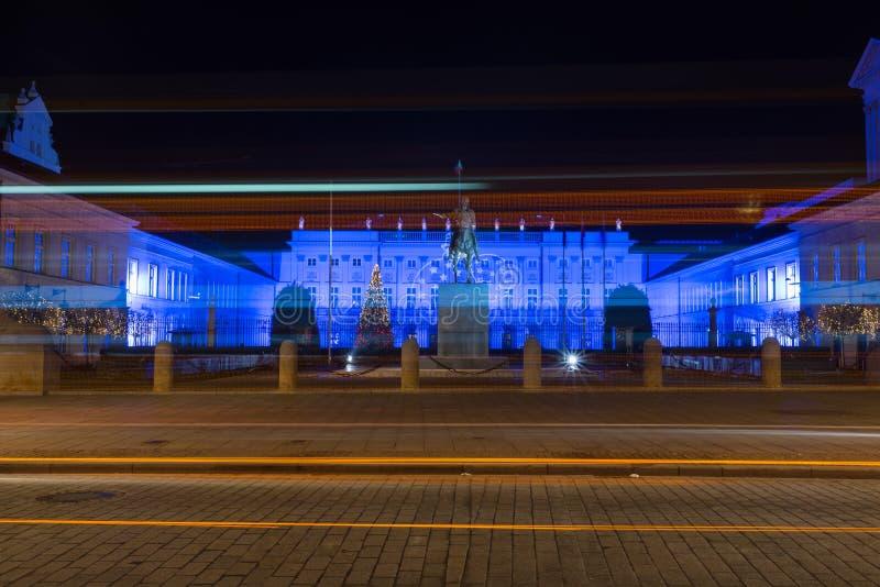 Palacio presidencial en Varsovia imagen de archivo