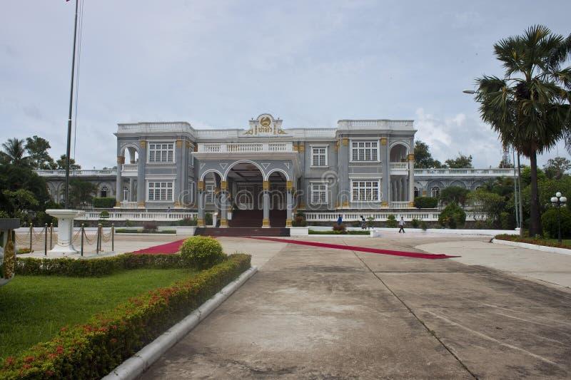 Palacio presidencial en Vientián foto de archivo libre de regalías