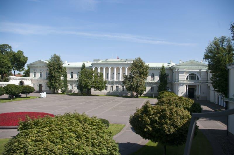 Palacio Presidencial Vilna Lituania foto de archivo
