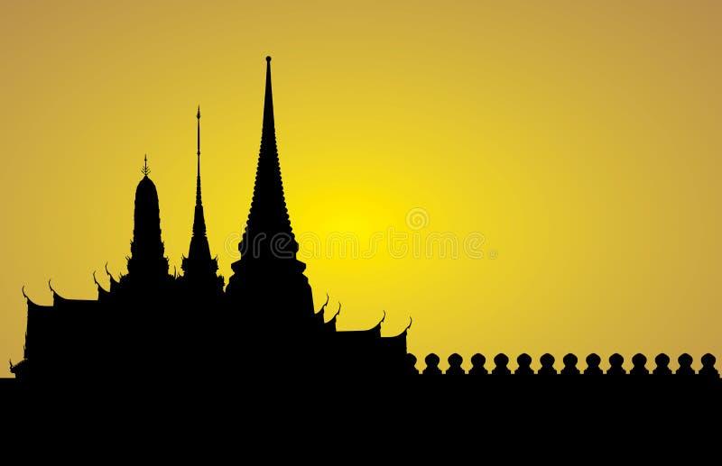 Palacio real de Bangkok ilustración del vector