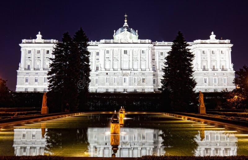 Palacio real de Madrid foto de archivo libre de regalías