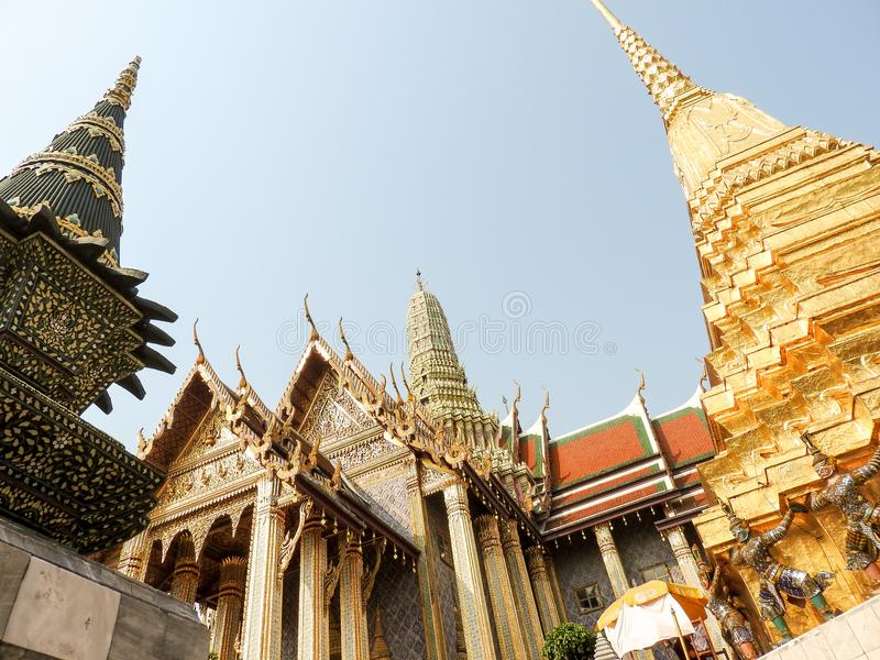 Palacio real en Bangkok imágenes de archivo libres de regalías