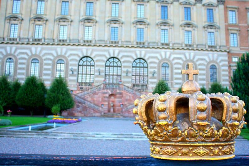 Palacio real en la capital sueca, Estocolmo fotografía de archivo libre de regalías