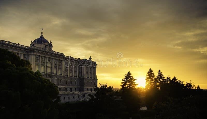 Palacio real español imagen de archivo