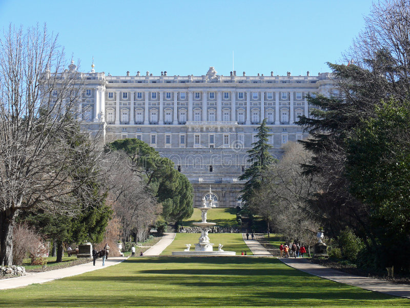Palacio real in Madrid, Spanien lizenzfreie stockfotos