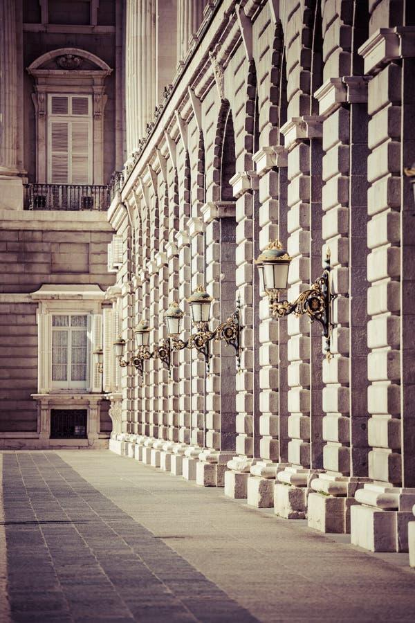 Palacio real - palacio real español en Madrid imágenes de archivo libres de regalías