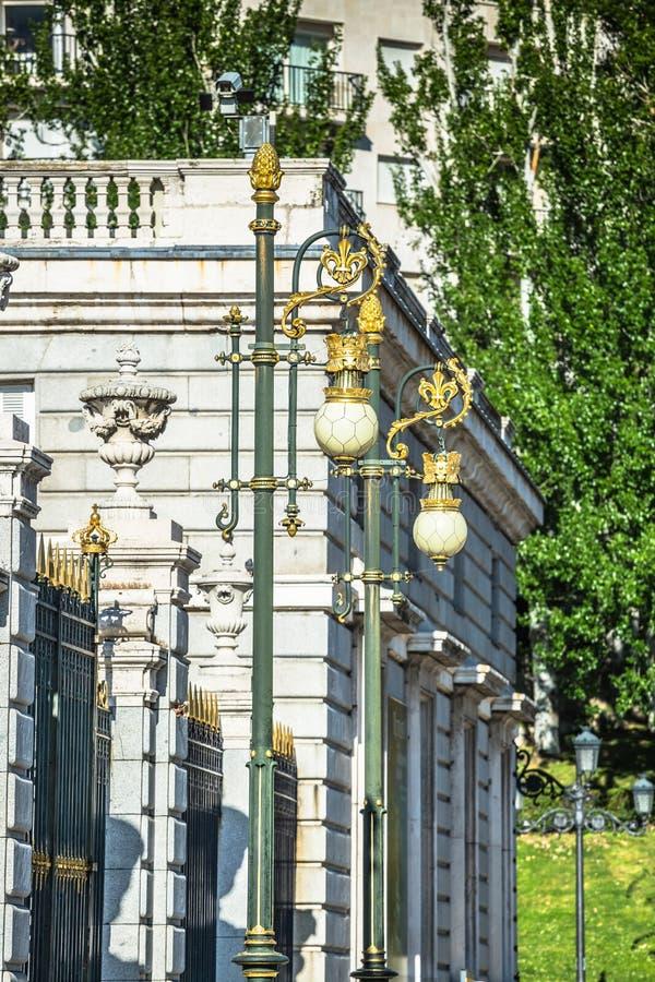 Palacio reale - palazzo reale spagnolo a Madrid immagini stock libere da diritti