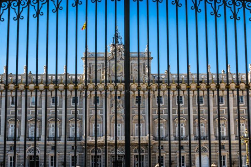 Palacio reale - palazzo reale spagnolo a Madrid fotografia stock libera da diritti