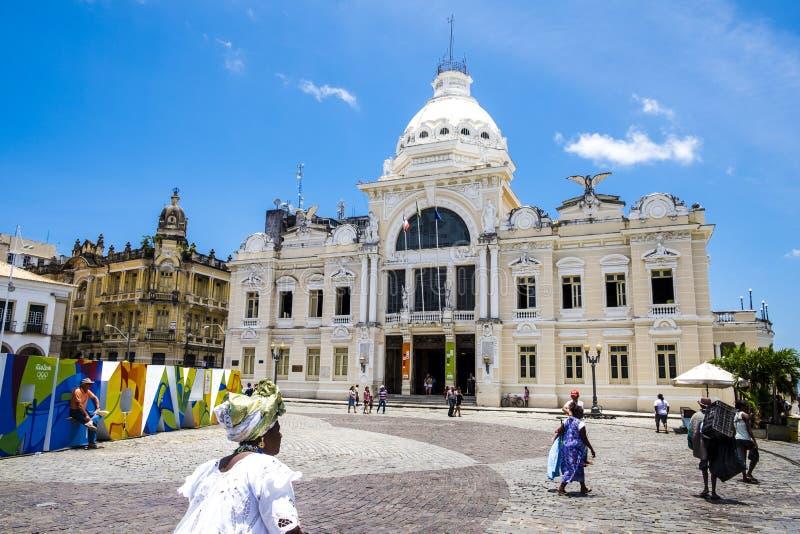 Palacio Rio Branco Palace em Pelourinho Salvador Brazil fotos de stock royalty free