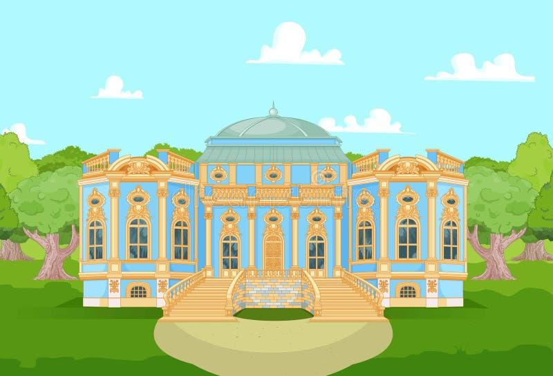 Palacio romántico para una princesa ilustración del vector