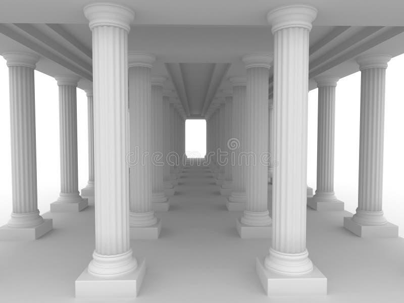 Palacio romano viejo ilustración del vector
