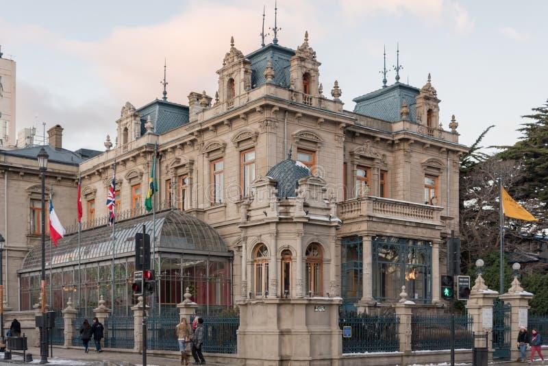 Palacio Sara Braun em Punta Arenas no Chile foto de stock royalty free