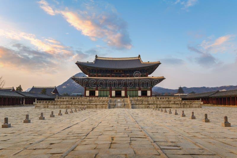 Palacio Seul Corea de Gyeongbokgung imagen de archivo libre de regalías