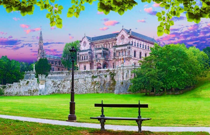 Palacio Sobrellano, Comillas, Cantabria, España fotos de archivo libres de regalías