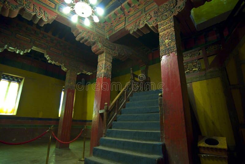 Palacio tibetano interior de Potala fotos de archivo