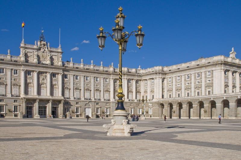 Palacio Verdadero En Madrid Imagenes de archivo