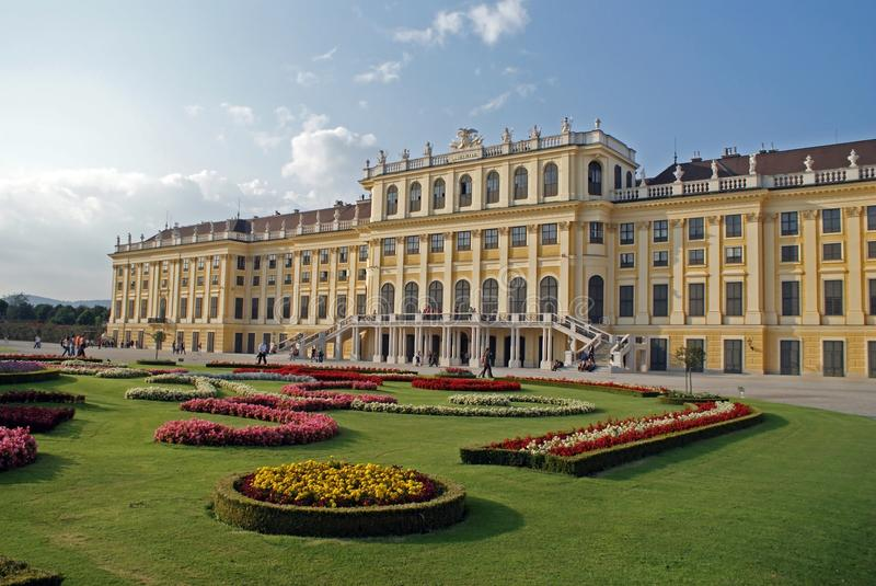 Palacio Vien de Schonbrunn foto de archivo
