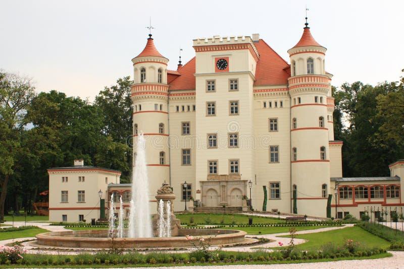 Palacio Wojanow cerca de Jelenia Gora (Polonia) fotografía de archivo libre de regalías