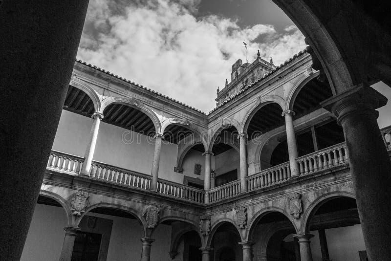 Palacio XV en Plasencia (España fotografía de archivo