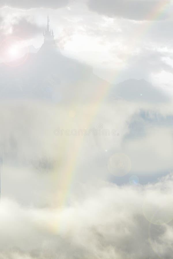 Palacio y arco iris libre illustration