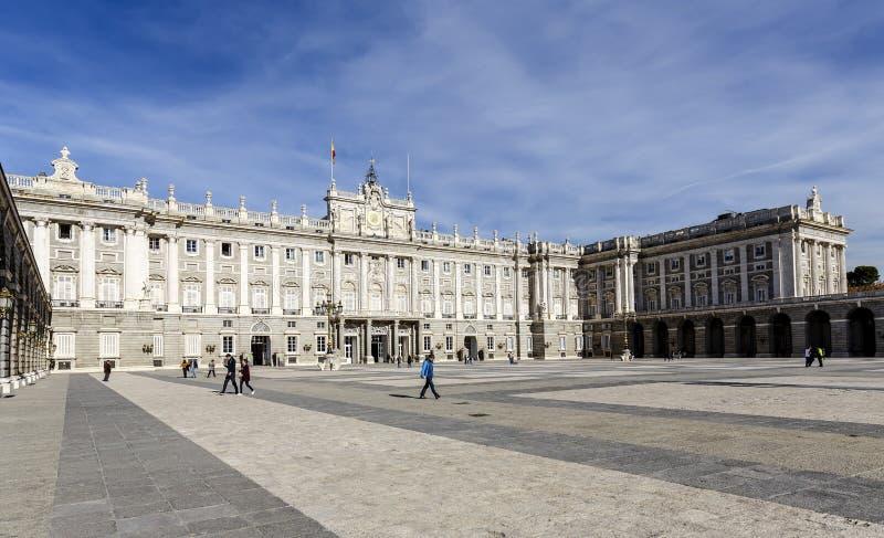 Palacioen verklig de Madrid Royal Palace royaltyfri foto