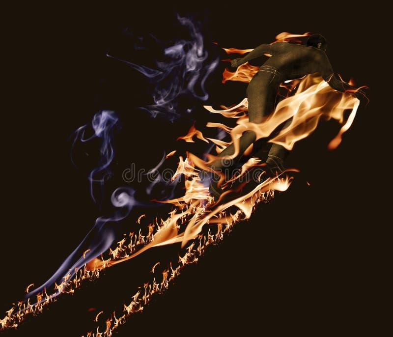 Download Palacz ilustracji. Obraz złożonej z ogień, samiec, energia - 23951798