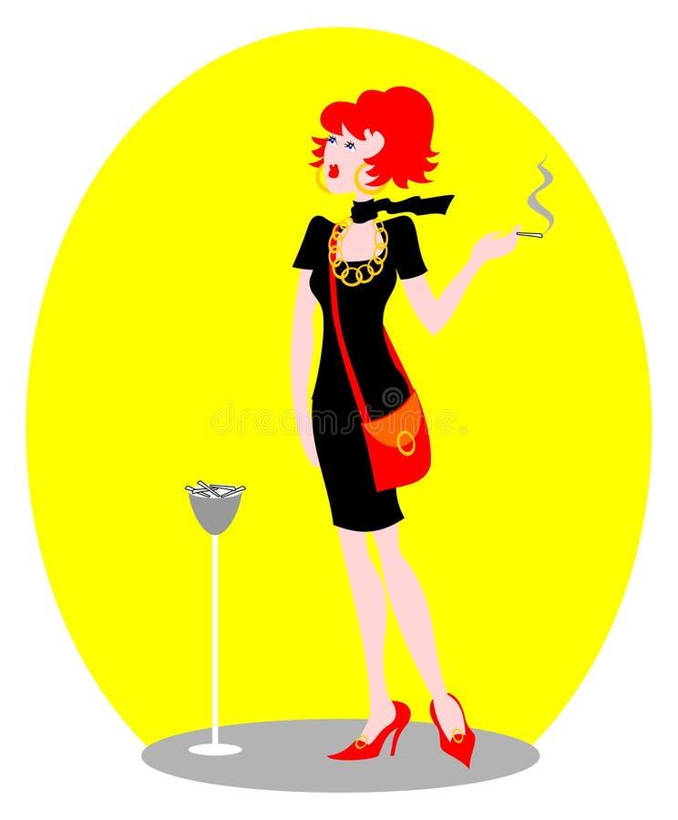 palacz royalty ilustracja