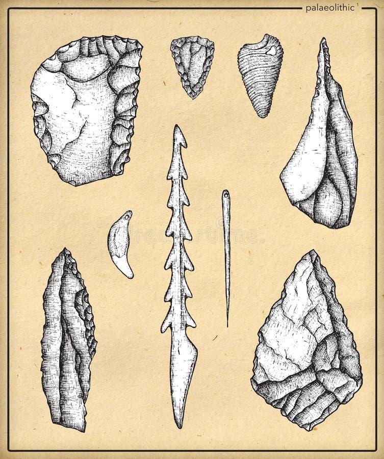 Palaeolithic_1 illustration stock