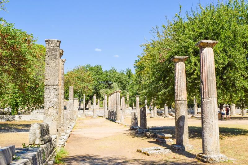 Ancient Olympia, Greece. royalty free stock images