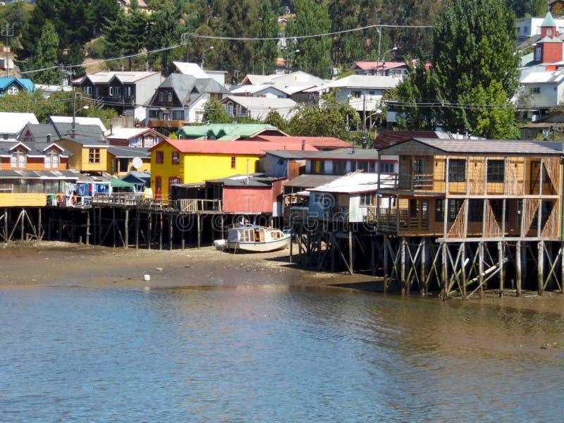 Palafitos van Chiloé stock foto's