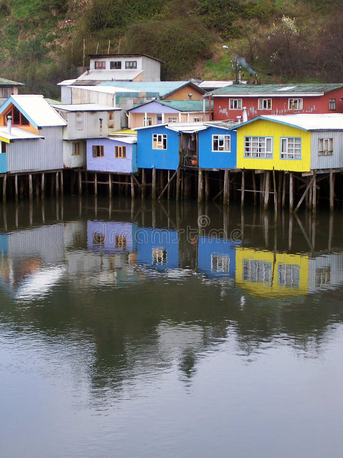 Palafitos van Chiloé stock fotografie