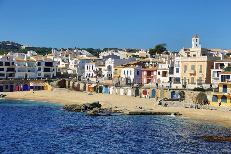 Palafrugell fishing village at catalonia, spain royalty free stock photos