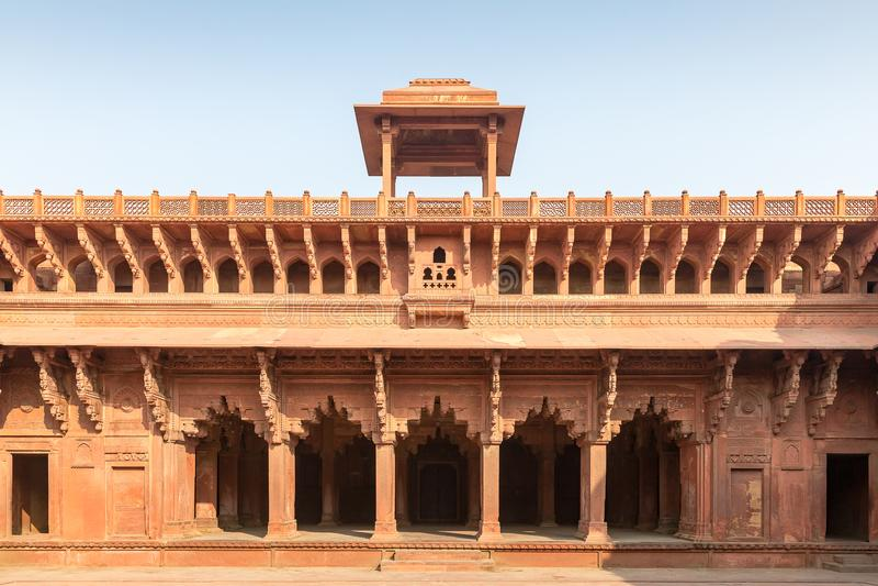 Palais à l'intérieur de fort d'Âgrâ, Âgrâ, uttar pradesh, Inde images stock