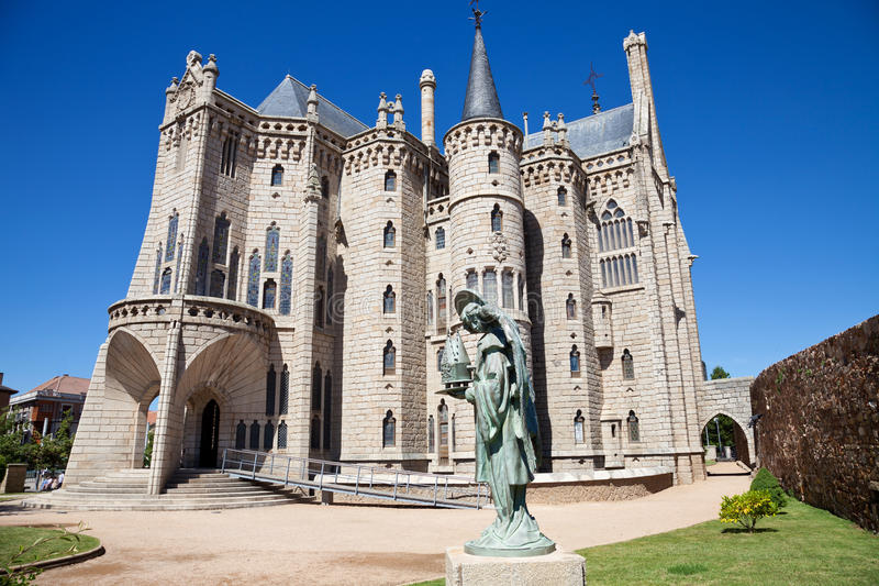Palais épiscopal d'Astorga par Gaudi photo stock