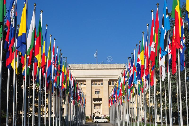 palais наций des geneva стоковое фото rf