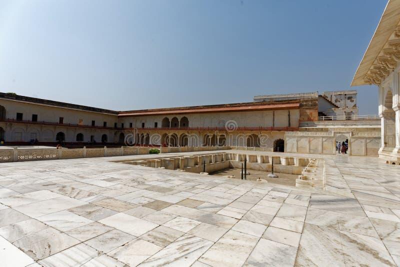 Palais Akbari Mahal Âgrâ Inde d'Akbars image libre de droits