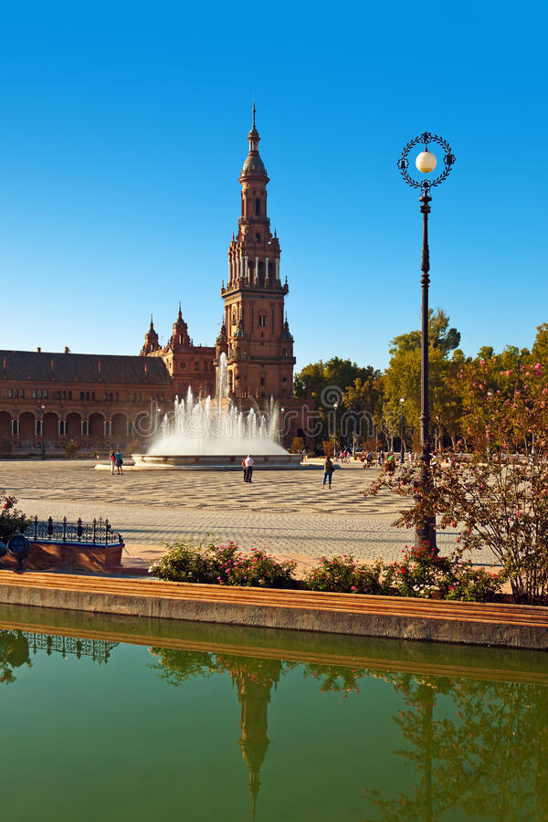 Palais au grand dos espagnol à Séville Espagne images stock