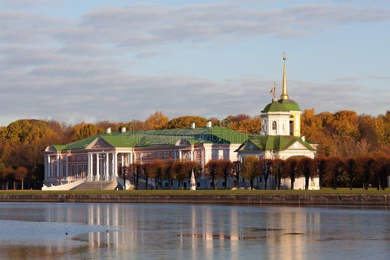 Palais au musée-patrimoine Kuskovo photo stock