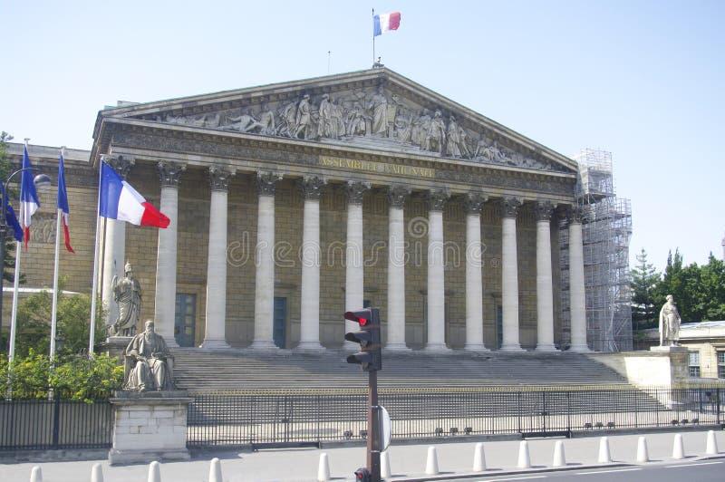 Palais Bourbon (assemblea nazionale) fotografia stock