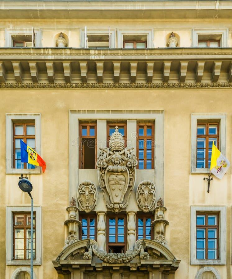 Palais catholique du ` s d'archevêque image stock
