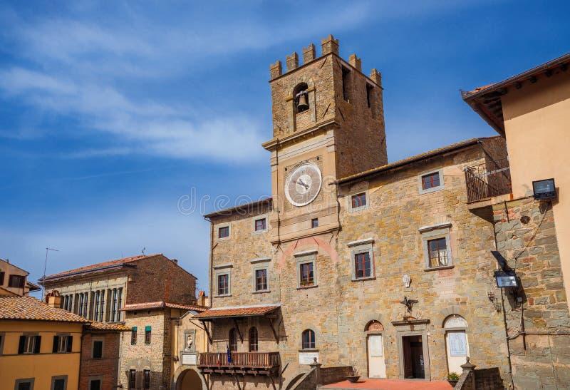 Palais communal de Cortona photos libres de droits