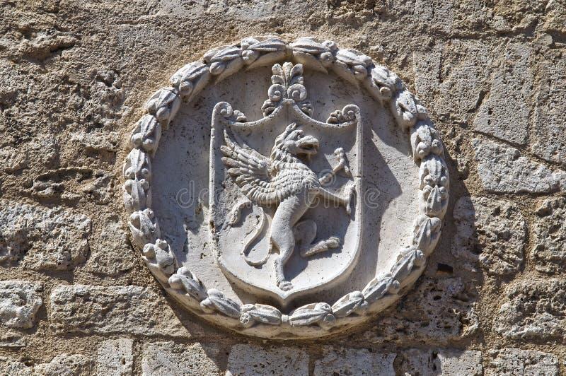 Palais communal. Narni. L'Ombrie. L'Italie. photo stock