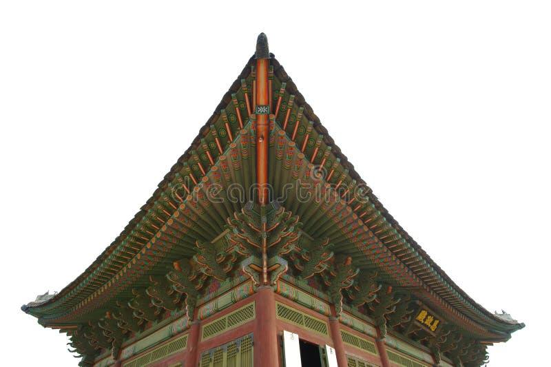 Palais Corée de kyongbok de toit belle image stock