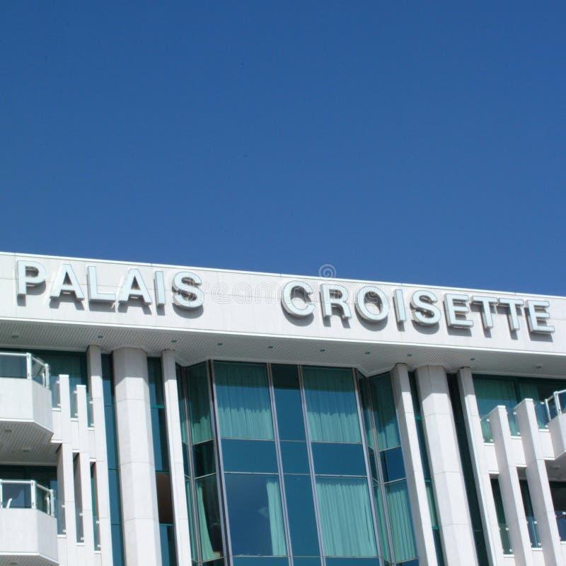 ` Palais croisette ` w Cannes obrazy stock