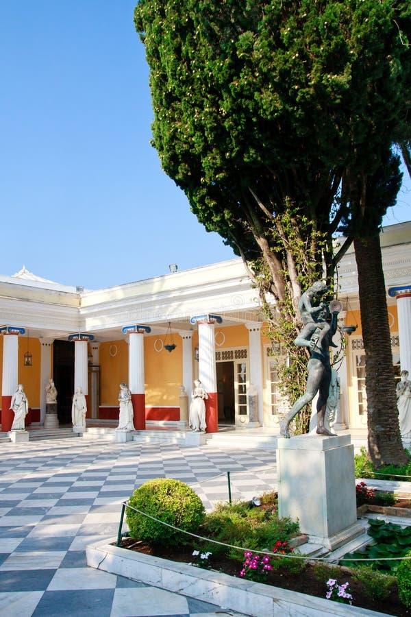 Palais d'Achileon, Corfou photo libre de droits