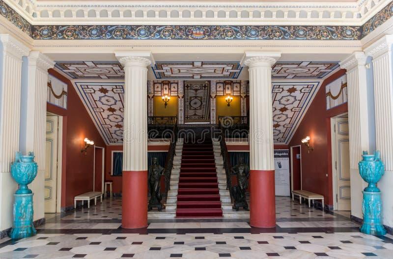 Palais d'Achillion à Corfou Grèce photos stock