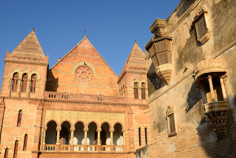 Palais d'Aina Mahal dans Bhuj, Goudjerate, Inde photos libres de droits