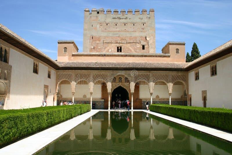 Palais d'Alhambra à Grenade, Andalousie photos libres de droits