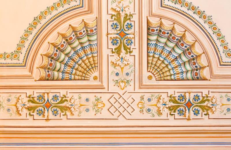 Palais d'Anton de saint - fresque de plafond de bibliothèque photos stock